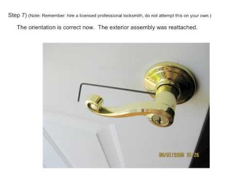 How To Flip The Cylinder On A Kwikset Tm Lever Door Lock
