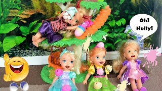 Elsya and Annya play at the Park with Friends - Playdate - Ice-cream - Anna Toddlers Toys and Dolls