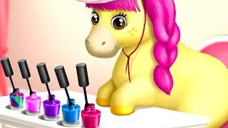 Play Pony Sisters Hair Salon 2 - Pet Horse Makeover Dress Up Fun Kids Games By TutoTOONS