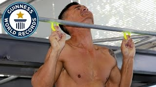 Most two finger pull ups in one minute - Guinness World Records