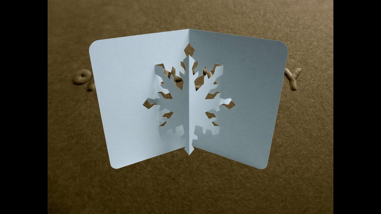 pop up snowflake card tutorial