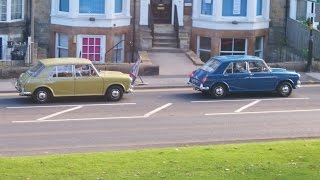 Two  Vanden Plas 1300 Mk2 - Austin A35 two door saloon followed by a Ford E83W pick-up.
