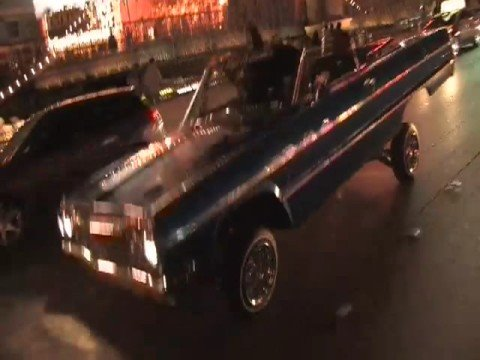 1964 Impala hit'n switches on Las Vegas BLVD. Video
