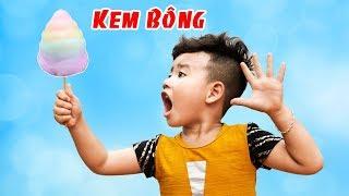 Trò Chơi Làm Kem Bông Nhiều Màu Sắc ♥ Min Min TV Minh Khoa