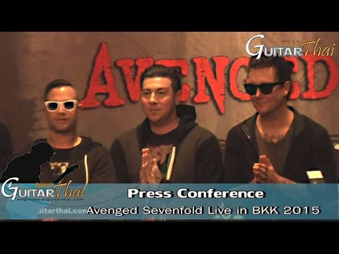 Press Conference Avenged Sevenfold Live In Bkk 2015 video