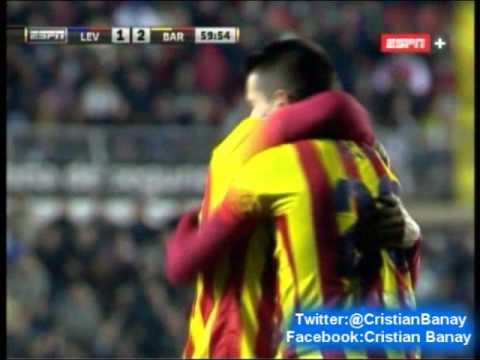 Levante 1 Barcelona 4 (Relato Miguel Simon) Copa del Rey 2014 Los goles