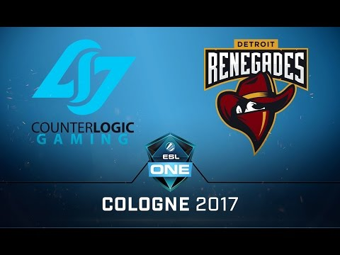 CS:GO - CLG vs. Renegades [Overpass] Map 2 - Semifinal - ESL One Cologne 2017 NA Qualifier
