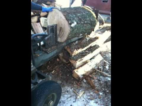 Homemade log splitter big logs