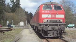 Some Diesel Trains in Germany (218, 611, 628, 644, 650)