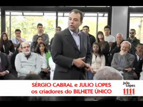 JULIO LOPES E GOVERNADOR CABRAL COM BILHETE UNICO Video