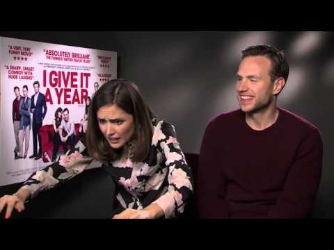 Rafe Spall And Rose Byrne Interview -- I Give It A Year