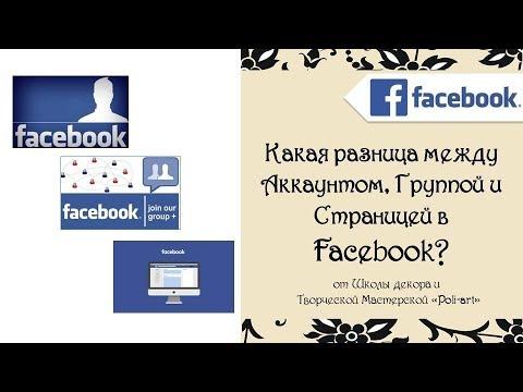 Какая разница между Аккаунтом, Группой и Страницей в Facebook?