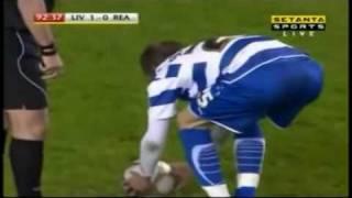 Liverpool 1 v  2 Reading  F.A Cup goals 13/1/2010