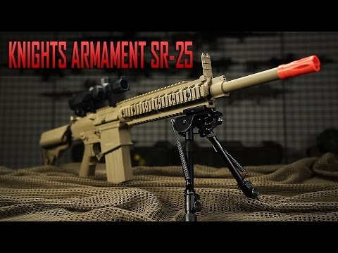 Programmable Long Range Firepower - Knight's Armament SR-25 by Ares - Airsoft GI