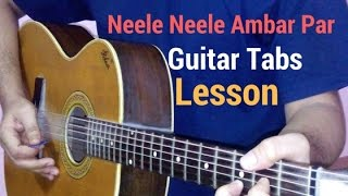 neele neele ambar par guitar tabs lead lesson tutorial cover from kalakaar