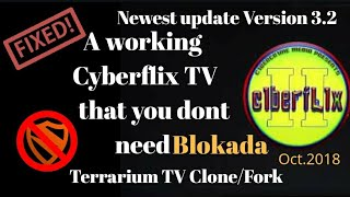 New Cyberflix Tv version 2 2018 no need for blokada(Terrarium TV clone/fork)
