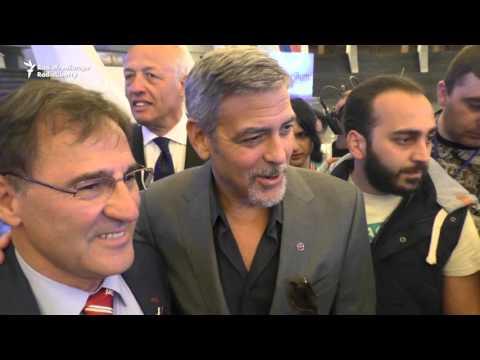 George Clooney In Armenia, Calls Genocide Denial 'Ridiculous'