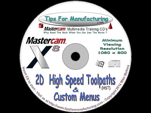 TFM - Mastercam X8 2D High Speed Toolpath Introduction - Peel Mill