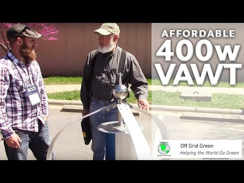 Affordable 400 Watt VAWT (Vertical Axis Wind Turbine) Starts at 6 MPH