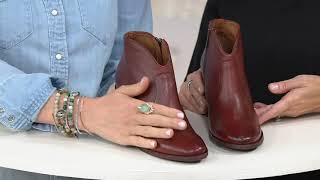 Frye Leather Ankle Boots - Nora Zip Short on QVC
