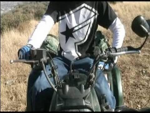 Quad & ATV 4-Wheeler Driving Basics : How to Brake on a Quad...