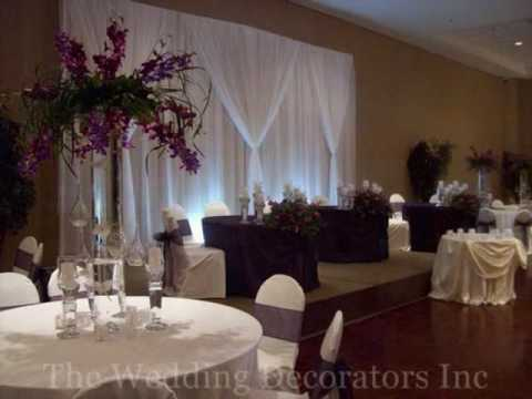 Stunning backdrops head table decorations luxury linens more