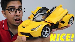 UNBOXING & LETS PLAY - 1/14 Scale La Ferrari RC car - RaStar - FULL REVIEW!