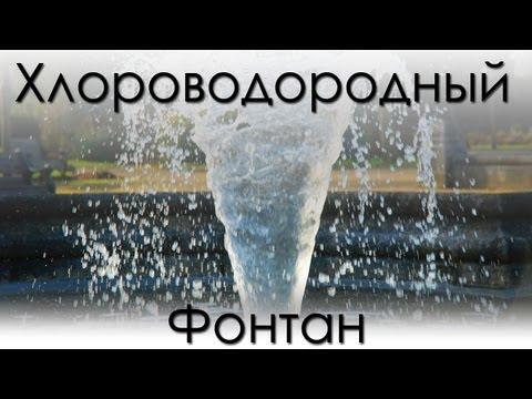 Хлороводородный фонтан, получение соляной кислоты. (химия)