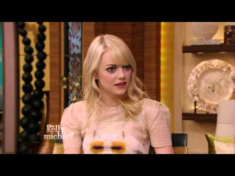 Emma Stone - stunning in Kelly Ripa interview