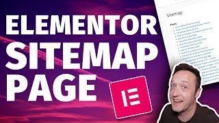 How to ADD A SITEMAP PAGE with ELEMENTOR