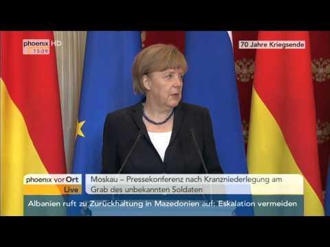 70 Jahre Kriegsende: PK von Angela Merkel und Wladimir Putin am 10.05.2015
