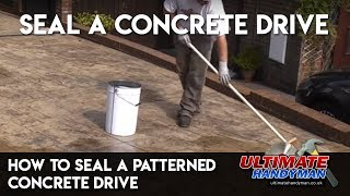 How to seal a patterned concrete drive | seal PIC drive