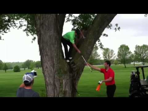 Scott Hecox Gopher Cup 2013 shot out of a tree