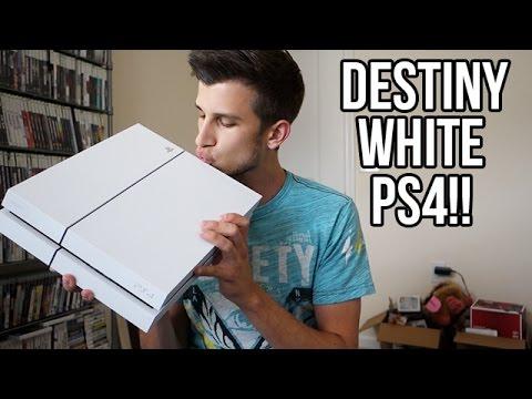 WHITE PS4 UNBOXING!! DESTINY PS4 BUNDLE!!