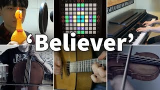 (3.42 MB) Who Played It Better: Believer (Chicken, Violin, Guitar, Piano, Cello, Launchpad) Mp3