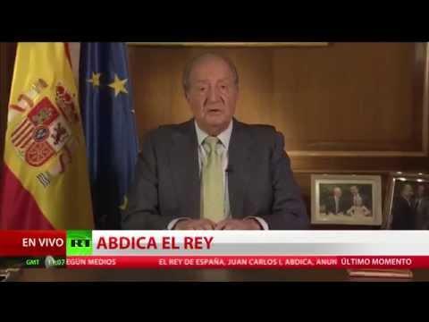 El Rey de España Juan Carlos I abdica del trono