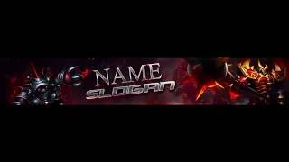 2d banner template  /League Of Legends/ RED #1