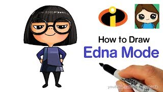 How to Draw Edna Mode Easy | The Incredibles
