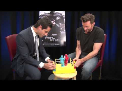 Hugh Jackman Plays Rock 'Em Sock 'Em Robots