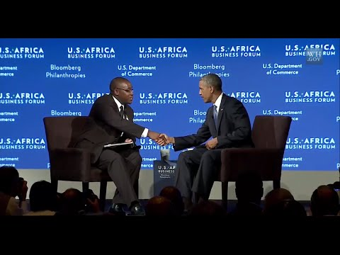 NUST student, Takunda Chingonzoh shines at U.S.-Africa Summit, as he interviews Obama