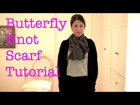 Butterfly Knot Scarf Tutorial 2 Ways
