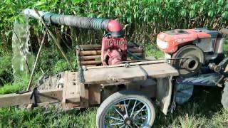 Traktor Quick Kubota RD85 di kombinasi dengan pompa air