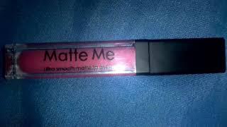 Matte pink lipstick