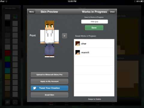 [ipad tutorial] how to change your minecraft pe skin