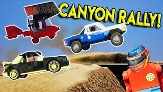 ULTIMATE LEGO CANYON RALLY RACE - Brick Rigs Multiplayer Challenge Gameplay - Lego Race