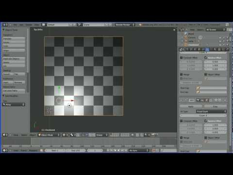 Blender Modelling Making a Chessboard Using the Array Modifier and the Generated Marble Texture