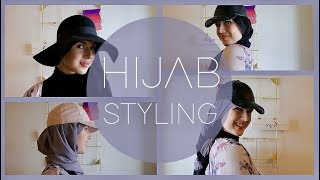 How to Style Your Hijab with Caps & Hats | mylifelizabeth