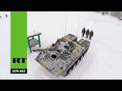 A vista de dron: El BMD-4M es puesto a prueba a temperaturas bajo cero