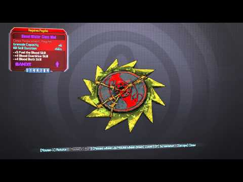 Borderlands 2: All Krieg (Psycho) class mods - max stats at level 61