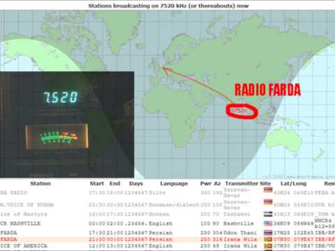 SW RECEPTION 7520KHZ RADIO FARDA WITH BONEY M (+20Db!!!)